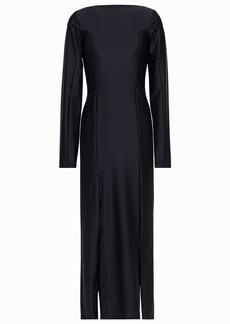 Ann Demeulemeester Woman Pleated Satin-jersey Midi Dress Black
