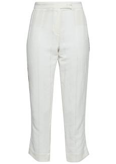 Ann Demeulemeester Woman Ramie-blend Jacquard Straight-leg Pants Off-white