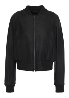 Ann Demeulemeester Woman Reversible Brushed Wool-blend Twill Bomber Jacket Black
