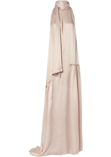 Ann Demeulemeester Woman Ruched Silk-satin Gown Pastel Pink
