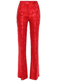 Ann Demeulemeester Woman Satin-jacquard Flared Pants Red