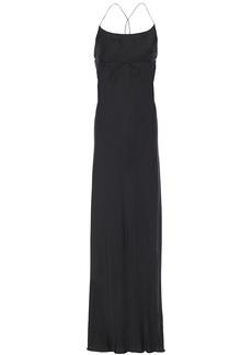 Ann Demeulemeester Woman Satin Maxi Dress Black