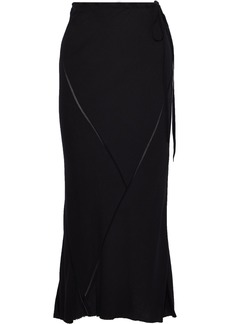 Ann Demeulemeester Woman Satin-trimmed Gauze Maxi Skirt Black