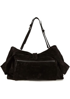 Ann Demeulemeester Woman Suede Shoulder Bag Black