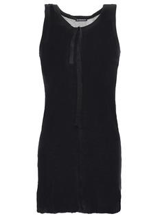 Ann Demeulemeester Woman Tie-detailed Slub Jersey Tank Black