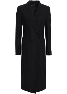 Ann Demeulemeester Woman Wool-blend Crepe Coat Black