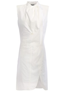 Ann Demeulemeester Woman Wrap-effect Cotton-poplin Tunic White