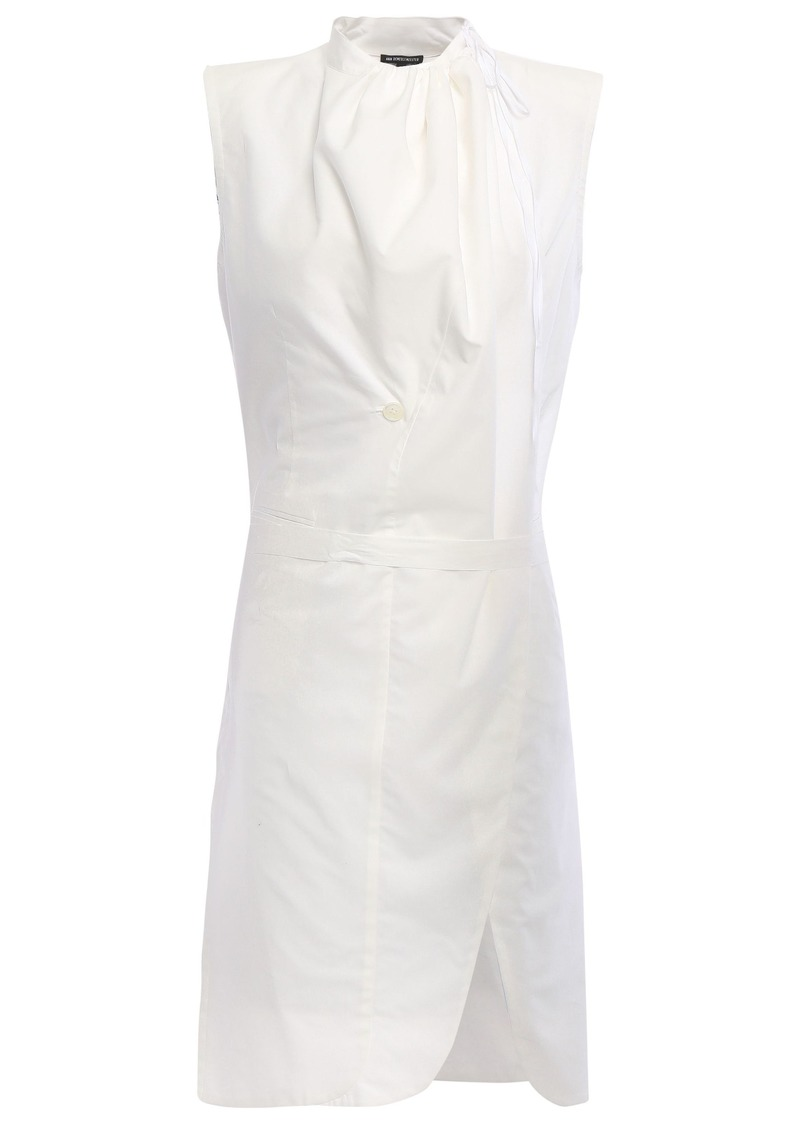Ann Demeulemeester Woman Wrap-effect Cotton-poplin Tunic White