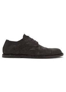 Ann Demeulemeester Woven-leather derby shoes