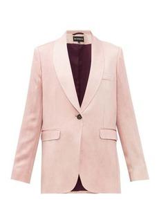 Ann Demeulemeester Yana single-breasted satin jacket