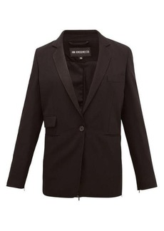 Ann Demeulemeester Zipped-back single-breasted wool jacket