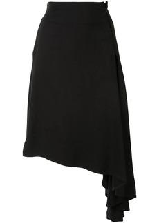 Ann Demeulemeester asymmetric midi skirt