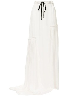 Ann Demeulemeester asymmetric ruched long skirt