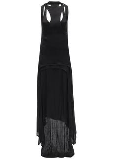 Ann Demeulemeester Asymmetrical Viscose Satin Dress