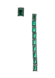 Ann Demeulemeester baguette emerald earrings
