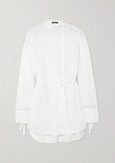 Ann Demeulemeester Belted Cotton-poplin Shirt