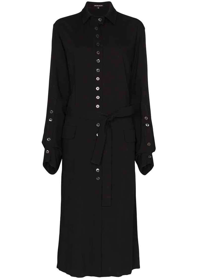Ann Demeulemeester belted midi shirt dress