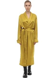 Ann Demeulemeester Belted Satin Coat
