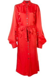 Ann Demeulemeester belted shirt dress