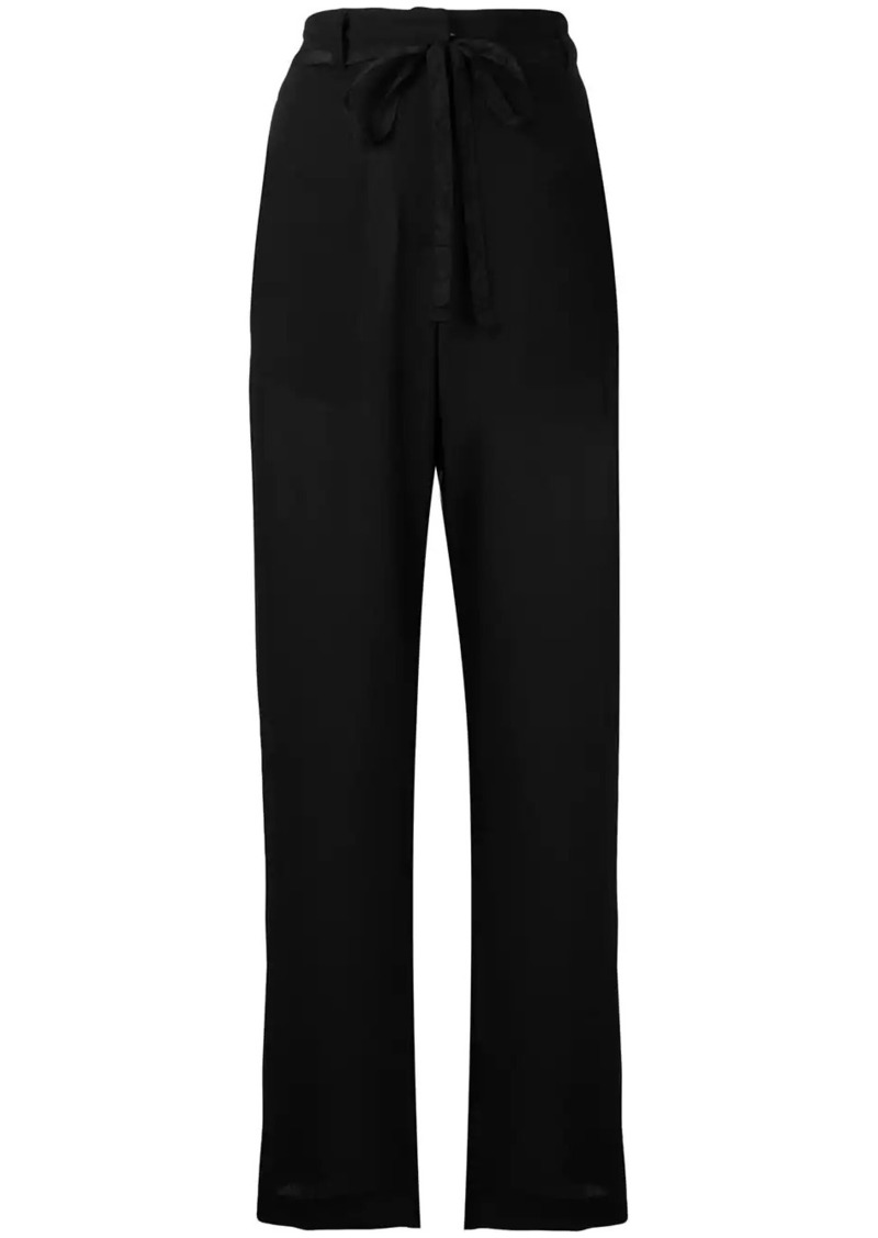 Ann Demeulemeester belted tailored trousers