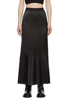 Ann Demeulemeester Black Bias Skirt