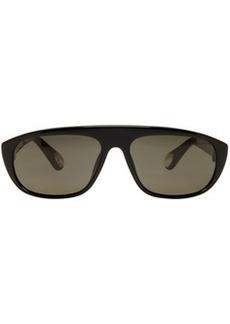 Ann Demeulemeester Black Linda Farrow Edition Oval Sunglasses