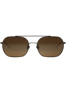 Ann Demeulemeester Black Linda Farrow Edition Rectangular Sunglasses