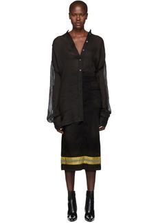 Ann Demeulemeester Black Linen Shirt