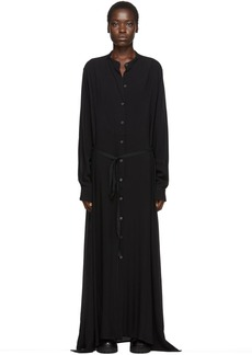 Ann Demeulemeester Black Shirt Dress