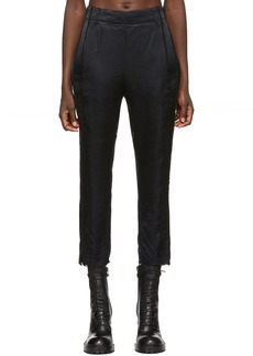 Ann Demeulemeester Black Silk Trousers