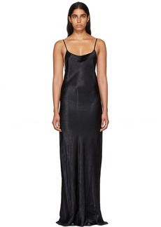 Ann Demeulemeester Black Silky Open Back Dress