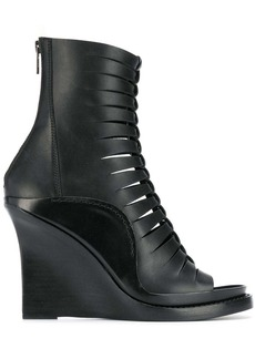 Ann Demeulemeester braided front wedge boots