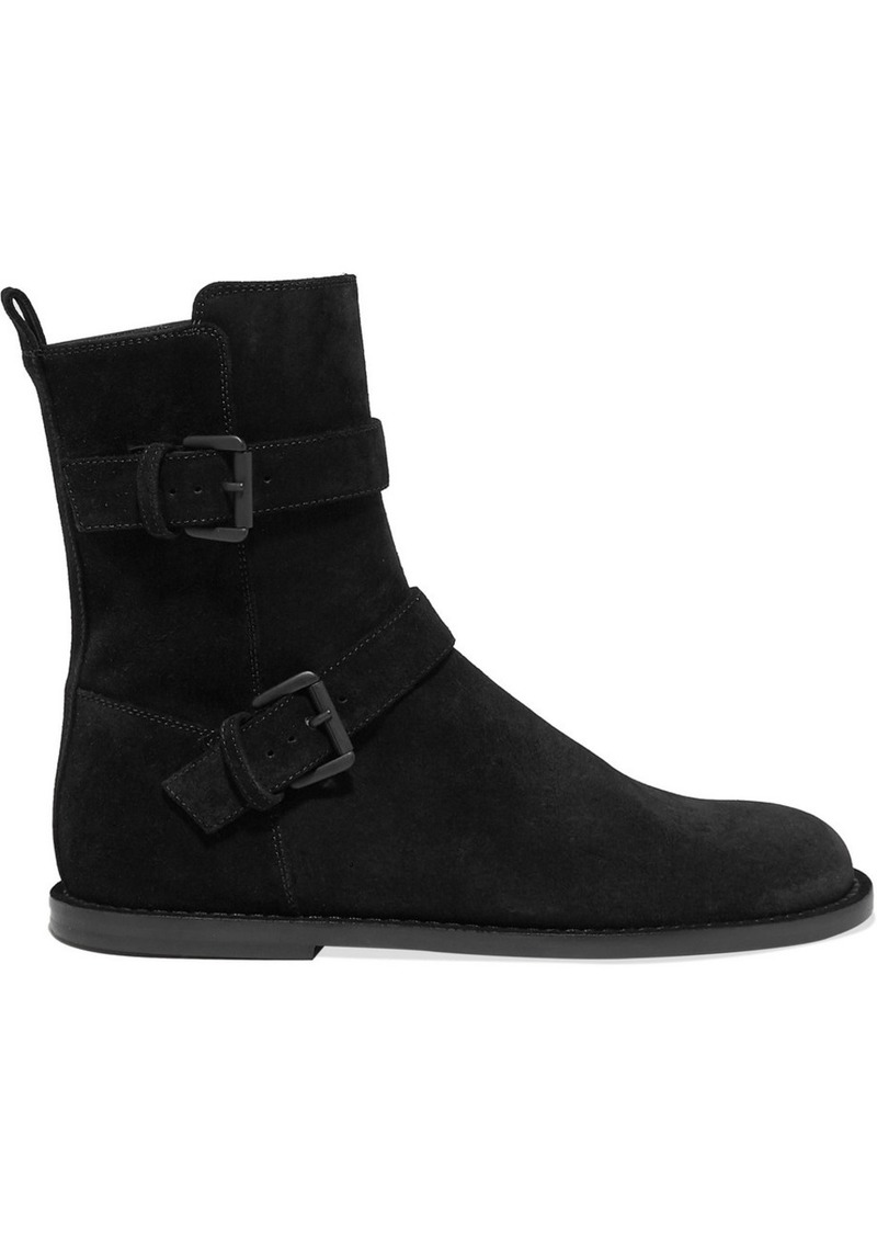 Ann Demeulemeester Buckle-detailed Suede Ankle Boots
