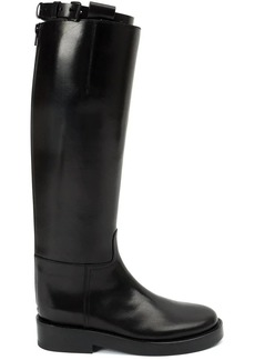 Ann Demeulemeester buckled strap knee boots