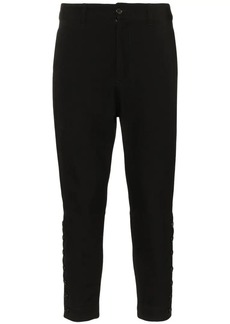Ann Demeulemeester buttoned cropped virgin wool cotton-blend trousers