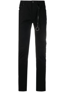 Ann Demeulemeester charm detail skinny trousers