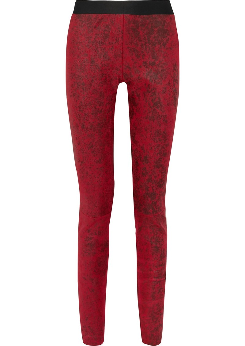 Ann Demeulemeester Coated Leather Leggings