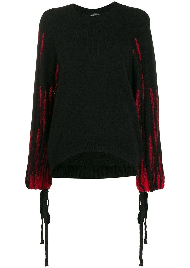 Ann Demeulemeester contrast-sleeve jumper