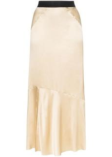 Ann Demeulemeester contrast waistband midi skirt