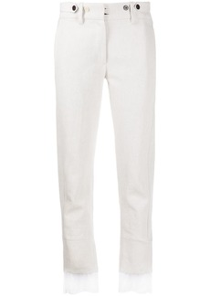 Ann Demeulemeester contrasting-cuffs straight trousers