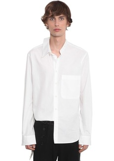 Ann Demeulemeester Cotton Poplin Shirt W/ Double Collar