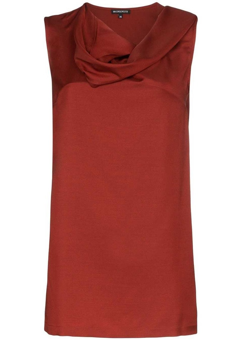 Ann Demeulemeester cowl-neck sleeveless blouse