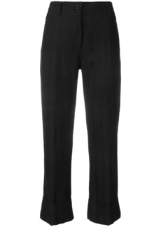 Ann Demeulemeester cropped high-rise flared trousers