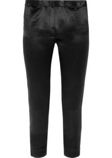 Ann Demeulemeester Cropped Satin Slim-leg Pants