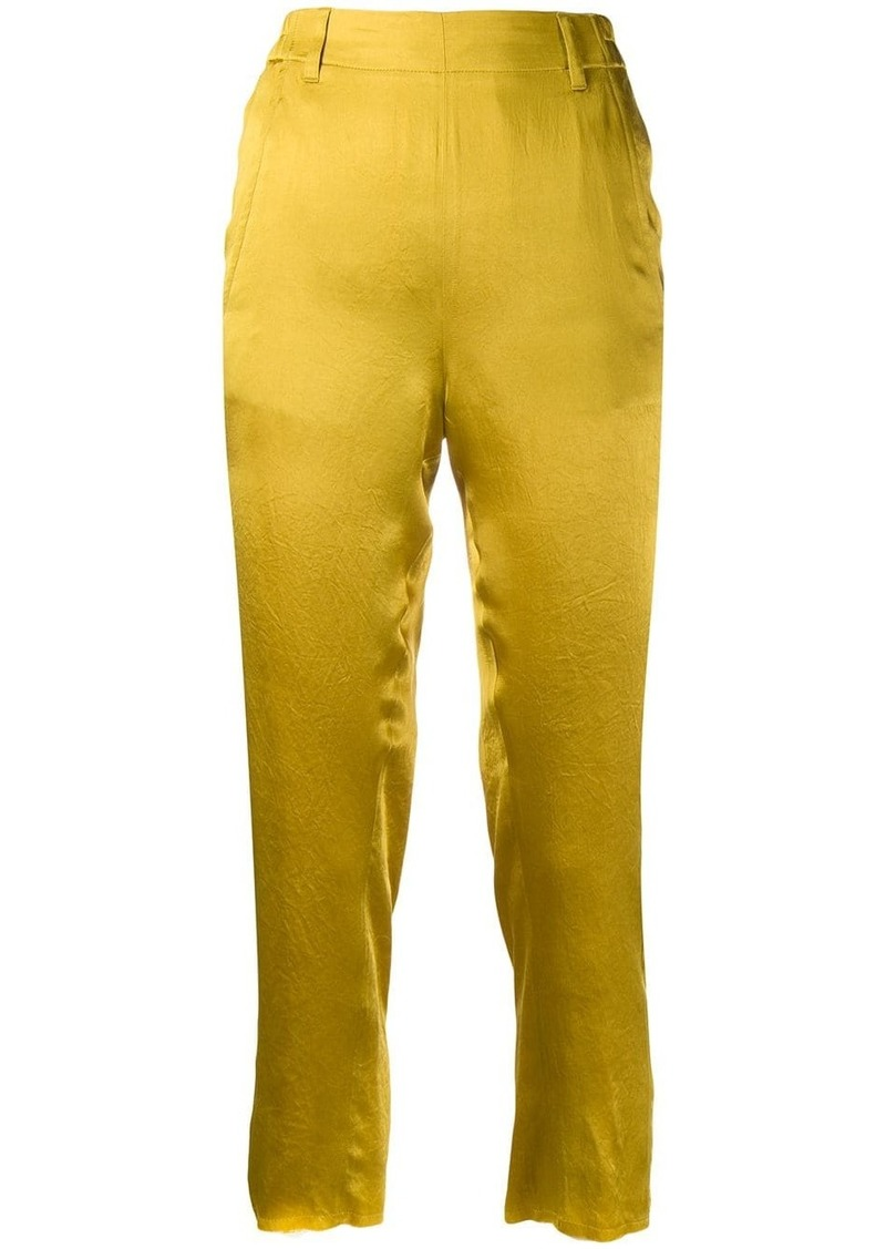 Ann Demeulemeester cropped satin trousers