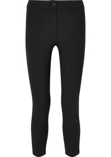 Ann Demeulemeester Cropped Stretch-wool Slim-leg Pants