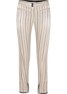 Ann Demeulemeester Cropped Striped Cotton-blend Satin Slim-leg Pants