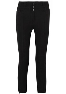 Ann Demeulemeester Cropped Wool And Cotton-blend Slim-leg Pants
