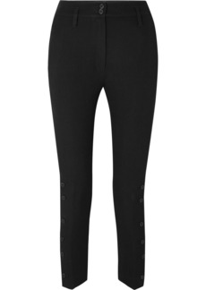 Ann Demeulemeester Cropped Wool And Cotton-blend Twill Tapered Pants