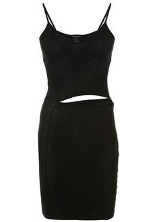 Ann Demeulemeester cut-out waist jersey mini dress